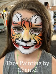 Face Painting Halloween Kids, Painting For Kids, Animal Face Paintings, Animal Faces, Mermaid Face Paint, Tiger Face Paints, Kitty Face Paint, Balloon Painting, Face Painting Designs