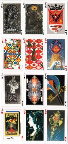 """""""Key to the Kingdom"""" - an enchanted deck -  illuminated playing cards designed by Tony Meeuwissen, 1992. © Pavilion Books Company Limited"""