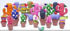 Regalos para el día del amigo: ideas y manualidades para festejar - Mujeres Femeninas Felt Crafts, Fabric Crafts, Crafts To Make, Arts And Crafts, Diy Crafts, Cactus E Suculentas, Cactus Fabric, Cactus Craft, Crochet Cactus