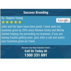 John and his team have been great. I have seen my business grow by 20% since Review Clicks...