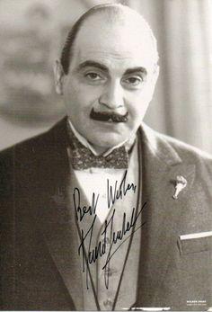 Hercule Poirot - social call only, no murder mystery please.
