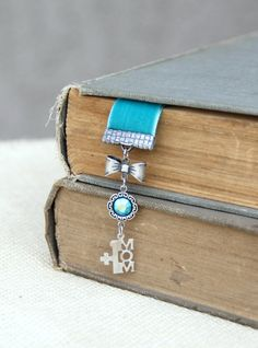 MOM Bookmark Velvet Bookmark Mom Gift For Her by LovelyFleur 20.00