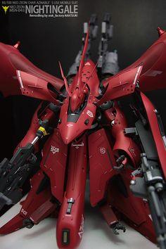 高機動型ナイチンゲール最終決戦仕様 Pixel Animation, Gundam Custom Build, Gundam Art, Gunpla Custom, Gundam Model, Nightingale, Mobile Suit, Art Model, Robot