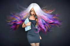 Girl with colorful hair Beautiful Barbie Dolls, Pretty Dolls, Cute Dolls, Dolly Fashion, Fashion Dolls, Chica Cool, Enchanted Doll, Barbie Fashionista, Anime Dolls