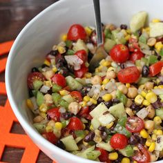 Skinny Chickpea Summer Salad | Skinny Mom | Where Moms Get The Skinny On Healthy Living