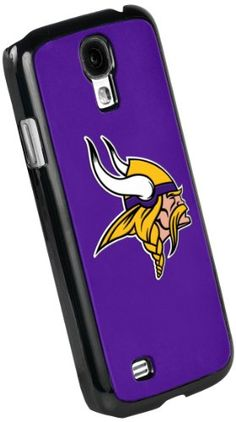 Forever Collectibles Minnesota Vikings Team Logo Black Borders Hard SnapOn Samsung Galaxy S4 Case * For more information, visit image link.