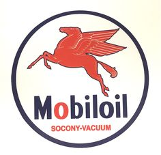 "Beautiful Mobiloil Tin Great for Collectors Perfect Size for Any Display 7"" Round Sign A Unique Small Gift"