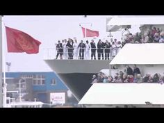 Cunard's three Queens -- Queen Mary 2, Queen Victoria and Queen Elizabeth -- sailed up Southampton Water on 5 June to gather together in their homeport for the very first time in celebration of the Queen's Diamond Jubilee.    --Video appears courtesy of Cunard Line.