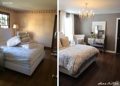 Although this room still isn't completely finished (we still need a rug and more artwork on the walls and above the bed) we have made qui...