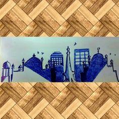 Pen doodle on buildings in Pakistan Pen Doodles, Stamp Collecting, Pakistan, Buildings, Rugs, Blog, Diy, Painting, Home Decor