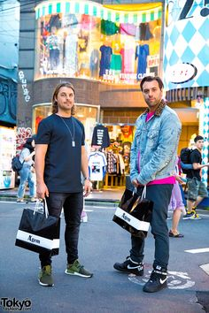 "OMG!!! a couple of my favorite trance/house producers/DJ's in Harajuku!!! Axwell (left) & Ingrosso (right) - they perform individually, as a group (Axwell /\ Ingrosso), & w/ 3rd member Steve Angello as ""Swedish House Mafia"" 