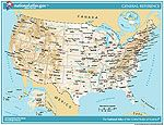 Map of United States printable