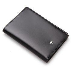 Montblanc 11987 Meisterstuck Men's Black Leather Wallet