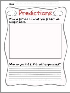 This is a great organizer for making predictions!