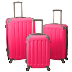 Departures 3-Piece Hardside Spinner Luggage Set With Combination Lock - Overstock™ Shopping - Great Deals on World Traveler Three-piece Sets