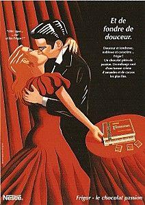 affiche vintage de la chocolaterie Cailler en suisse