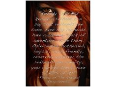 redhead sayings and quotes   ... Sayings http://lifeofjourney.wordpress.com/2011/09/29/being-a-redhead