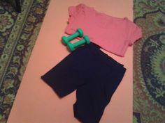 Dzień 4- strój do ćwiczeń  Na zdjęciu ubrania, w których dzisiaj ćwiczyłam. #fitfotowyzwanie