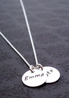 Mother's Jewelry  Two Name Necklace in by EclecticWendyDesigns, $37.00