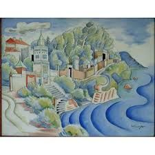 Mourillon by Albert Wainright RA 1932 Overall dimensions: x A signed watercolour. Wakefield, Contemporary Art, Presents, Watercolor, Illustration, Artwork, Pictures, Painting, Google Search
