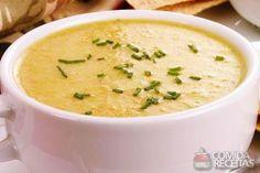 Sopa cremosa de legumes.