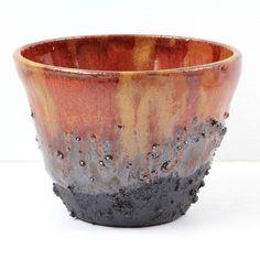 Volcano pot. Wheelthrown slipped and glazed.  #pottery #clay #potteryart #potterystudio #ceramicbowls #pottery #potterymaking #instapottery #claystagram #potterylove #potterylife #pottersofinstagram #kilnfolk #ceramic #ceramics #contemporaryceramics #handmade #handmadepottery #makersgonnamake #makersmovement #createmakeshare #crafts #craftsposure #contemporarycrafts #glaze #cone6 #wheelthrown