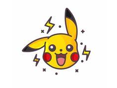 Pikachu by Aleksandar Savic on Dribbble Pikachu Drawing, Pikachu Art, Cute Pikachu, Pokemon Tumblr, My Pokemon, Cute Emoji Wallpaper, Cartoon Wallpaper, Cute Monsters Drawings, Kawaii Illustration