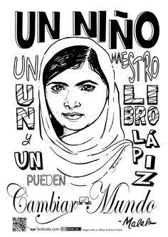Mural frase de Malala Yousafzai
