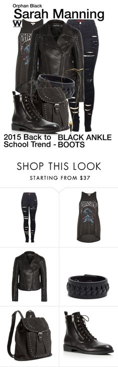 """""""Orphan Black"""" by wearwhatyouwatch ❤ liked on Polyvore featuring 2LUV, River Island, Tom Ford, Frye, H&M, Marc by Marc Jacobs, Vince Camuto, BackToSchool, television and wearwhatyouwatch"""