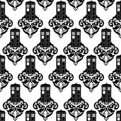 Doodle Craft...: Doctor Who Week 2...and a Damask Tardis Freebie!!