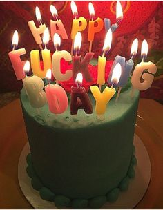 Happy Fucking Birthday Candles : A Unique Gifts Website