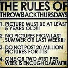 Since it's Thursday and everyone likes to do a #TBT... I decided to post the rules!  Lol   #rules #throwback #thursday