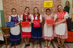 Slovak traditional dress. I love my friends.