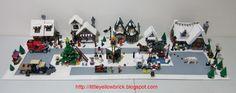 Little Yellow Brick - A Lego Blog: Our Lego Winter Village Town MOC - 10199 Winter Village Toy Shop, 10216 Winter Village Bakery, 10222 Wint...