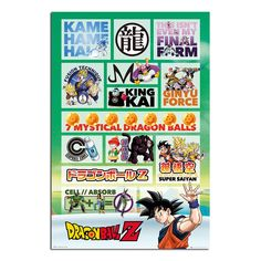 Dragon Ball Z Infographic Poster | iPosters
