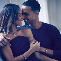 Cute couple! Singer Rochelle Humes and husband Marvin. #PANDORAstyle #PANDORAcelebrity #PANDORAwishes