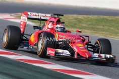 """""""Few pics of Kimi out on track today. #BarcelonaTest"""""""