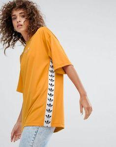adidas Originals Tnt Tape Tee In Yellow