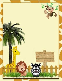 Cute The Jungle: Free Printable Invitations, Labels or Cards.