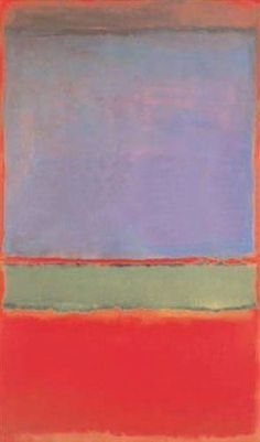 The ten most expensive paintings in history - Telegraph: $186m No. 6 (Violet, Green and Red) by Mark Rothko