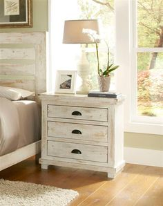 rustic white nightstand. Willow Casual Distressed White Wood Nightstand Rustic
