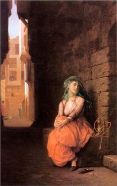 Arab Girl with Waterpipe - Jean-Leon Gerome