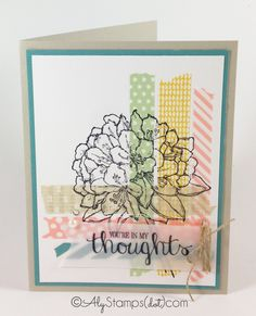 Crosshatch Washi Tape Technique with Best Thoughts Stamp Set by Stampin' Up!