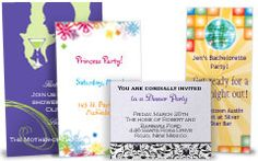 Print birthday invites