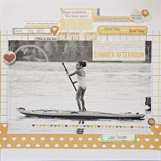 #papercrafting #scrapbook #layout Favorite Moment by katie rose at @Studio_Calico