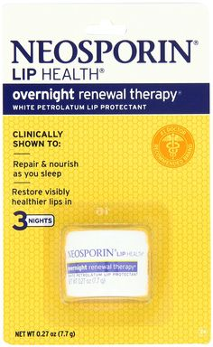 Neosporin Lip Health Overnight Renewal Therapy, 0.27-Ounce (Pack of 2) ** Awesome product. Click the image : Lip Care