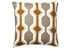 Modern 20x20 Pillow, Brown on OneKingsLane.com