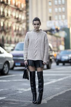 Thigh high boots inspirational post: http://mesvoyagesaparis.com/high-boots-inspiration-wear/