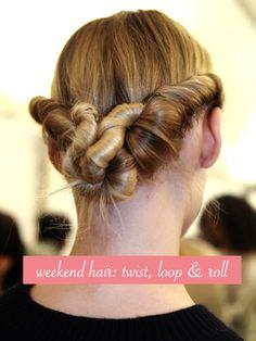 weekend hair: THE VALENTINO TWIST