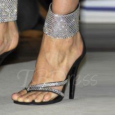Tbdress.com offers high quality Open Toe Zipper Rhinestone Buckle Stiletto Heel Women's Sandals Sandals unit price of $ 77.99.
